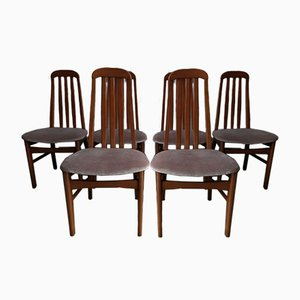 Vintage Danish Style Dining Chairs, Set of 6