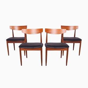 Chaises de Salon Vintage en Teck par Ib Kofod Larsen pour G-Plan, 1960s, Set de 4