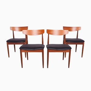 Vintage Teak Esszimmerstühle von Ib Kofod Larsen für G-Plan, 1960er, 4er Set
