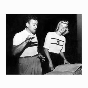 Les Brown & Doris Day Archival Pigment Print Framed in White by Everett Collection