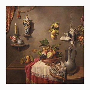 Italian Still Life Painting, Oil on Canvas