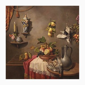 Italienische Stilllebenmalerei, Öl auf Leinwand