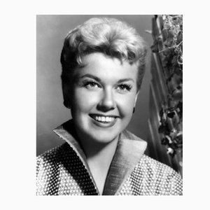 Doris Day Cheerful Portrait Archival Pigment Print Framed in Black by Everett Collection