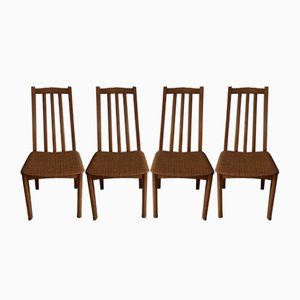 Vintage Danish Style Dining Chairs, Set of 4