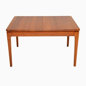 Vintage Danish Solid Teak Extending Dining Table, 1960s