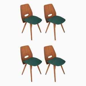 Vintage Czechoslovakian Lollipop Chairs by František Jirák for Tatra, 1960s, Set of 4