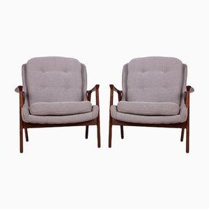 Mid-Century Teak Swedish Armchairs, 1960s, Set of 2