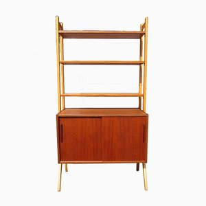Scandinavian Teak Shelving Unit, 1950s