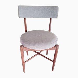 Teak and Velvet Desk Chair by Ib Kofod Larsen for G-Plan, 1960s