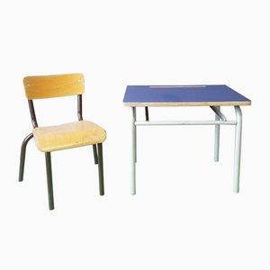 Set pour Enfant Vintage avec Bureau et Chaise, 1950s