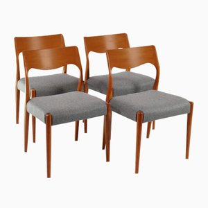 Dining Chairs by Niels Otto Møller for Fristho, 1960s, Set of 4