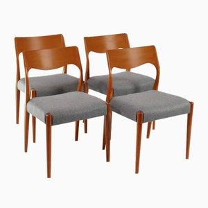 Sedie da pranzo di Niels Otto Møller per Fristho, anni '60, set di 4