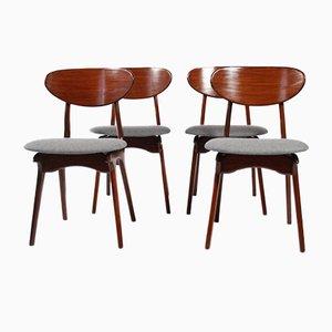 Vintage Esszimmerstühle von Louis van Teeffelen für WéBé, Holland, 1960er, 4er Set