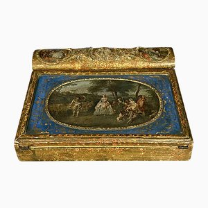 Lacquered Wood and Gold Ink Stand, 1790s