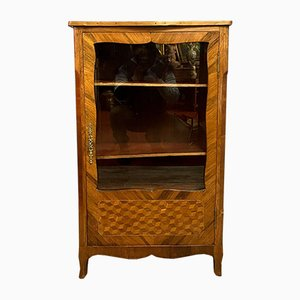 Louis XV Wood Inlaid Library, 1850s