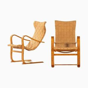Model Patronen Easy Chairs by Gustav Axel Berg, Set of 2