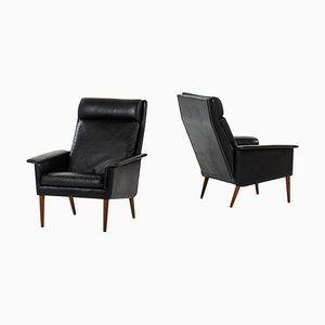Danish Easy Chairs, Set of 2