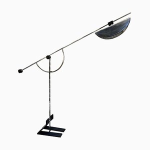 Architectural Chrome Metal Floor Lamp, 1980s