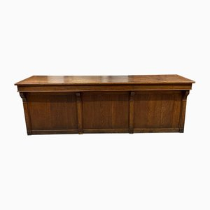 Large Late 19th-Century Oak Counter