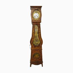 19th-Century French Empire Comtoise Or Grandfather Clock With Farm Scenes