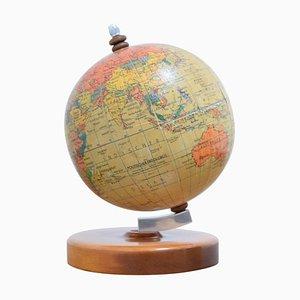 Kleiner Mid-Century Globus mit Holzsockel von Paul Rath, 1950er