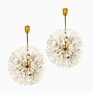 Snowball Orbit Sputnik Pendants by Emil Stejnar, Set of 2