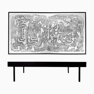 Acid Etched Aluminum Coffee Table by Bernhard Rohne, 1970s