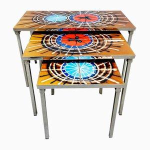 Tables Gigognes Vintage Multicolores par Juliette Belarti, 1960s