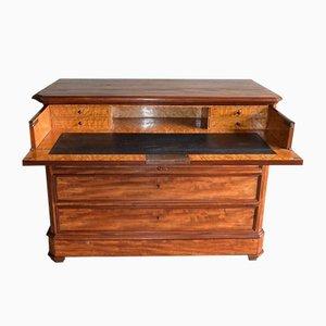 Secreter antiguo de caoba con escritorio