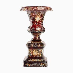 Bohemian Vase in Gold and Silver Enamel