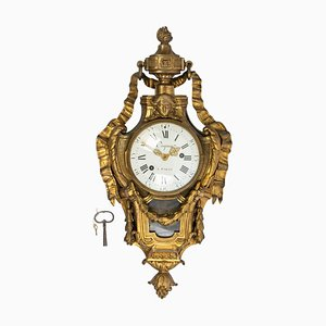 Gilded Bronze Wall Clock