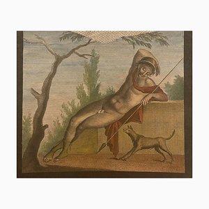 Pompeii, 19ème Siècle, Gravure à l'Eau-Forte