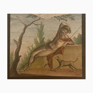 Pompeji, 19. Jh., Radierung und Aquarell