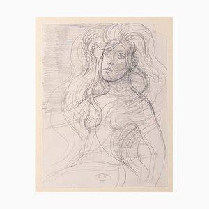 Eugène Berman, Portrait, 1970s, Pencil On Paper