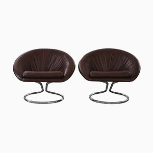 H Session Lounge Chairs by Giotto Stoppino, 1970s, Set of 2