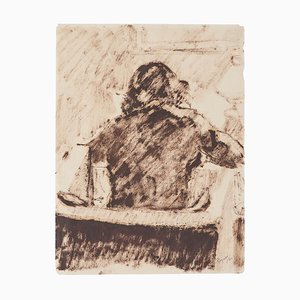 Arturo Peyrot, Frau, 1943, Tinte auf Papier