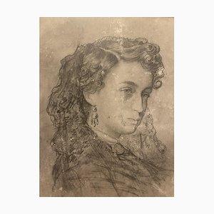 Portrait, 19. Jahrhundert, Bleistift auf Papier