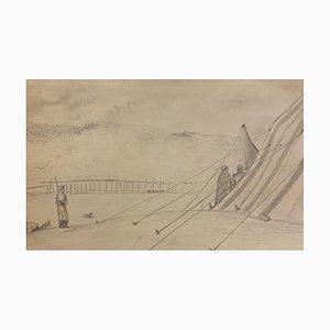 Lager der Soldaten, Bleistift auf Papier, 19. Jh