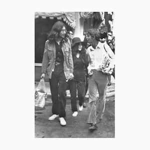 John Lennon and Yoko Ono, 1969, Black and White Photograph