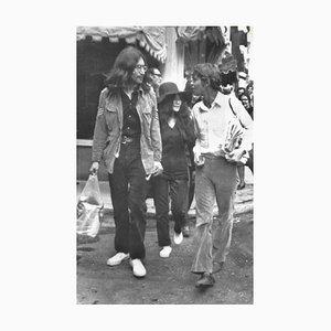 John Lennon und Yoko Ono, 1969, Schwarz-Weiß-Fotografie