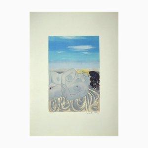Roger Chapelain Midy, Figur, spätes 20. Jh., Lithographie