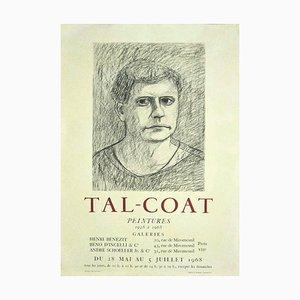 Tal Coat Exhibition Poster, 1968