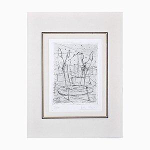 Ivan Mosca, Abstrakte Komposition, 1949, Radierung auf Papier