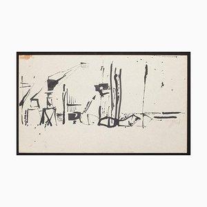 Herta Hausmann, Der Hafen, Mitte des 20. Jahrhunderts, Tinte auf Papier