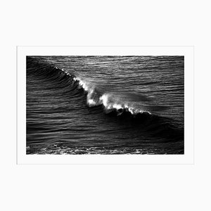 Black and White Seascape of Los Angeles Crashing Wave, 2021, Contemporary Photograph
