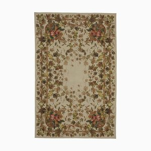 Beige Needlepoint Kilim Carpet