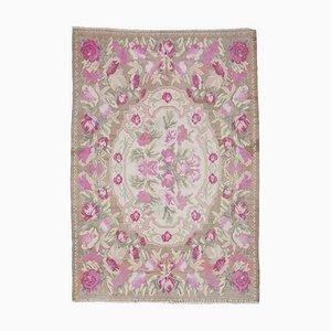Beige Moldovan Kilim Carpet