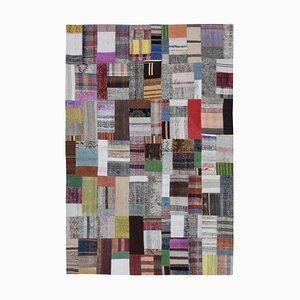 Multicolored Kilim Patchwork Carpet