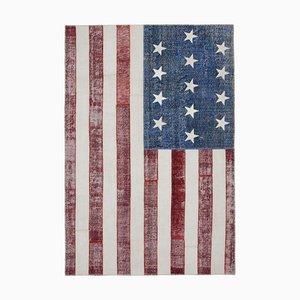 Usa Flag Patchwork Carpet