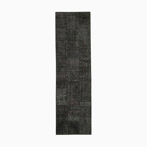Black Patchwork Runner Carpet